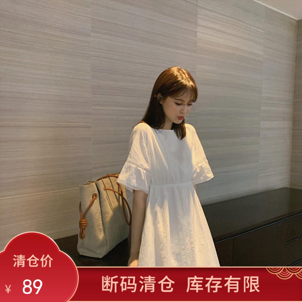 【不退不换】气质连衣裙女装短袖甜美中长款