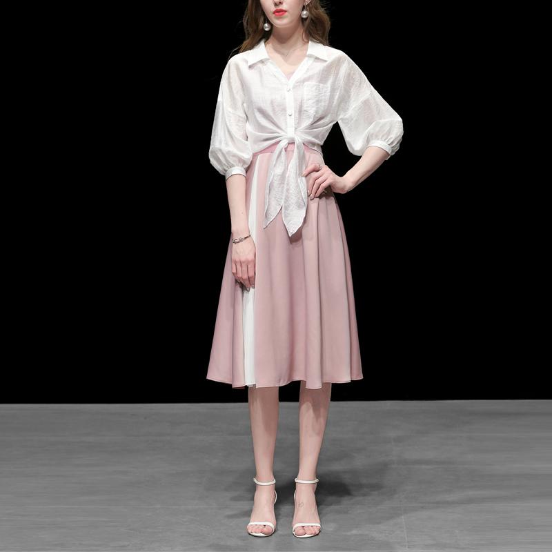 春裝2020新款女裝白色棉麻襯衫短款寬松休閑襯衣百搭防曬衫上衣潮