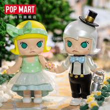 POPMART Bubble Matt MOLLY Wedding Flower and Child Series Blind Box Hand-made Trendy Toy Dolls