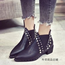 Fashion female boots tines Martin boots rivets shoes Martin boots