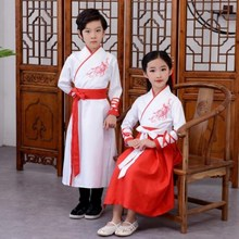 Tang Dynasty Han Dress Girls Spring Dresses with Children's Children's Chivalrous Middle School Students'Princess Photo Studio