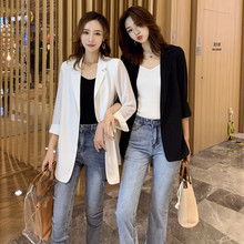 Chiffon small suit jacket for women in spring and summer 2019 new Korean version of loose sunscreen, medium and long air conditioning cardigan thin
