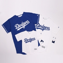 (Authentic embroidery) Los Angeles Dodgers baseball uniform American version of the original MLB childrens adult baseball shirt compassionate