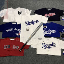 MLB Dodgers Yankees Coat Short Sleeve Group Buy Trendy Hip-hop Parent-Child Lovers Youth Baseball Clothes