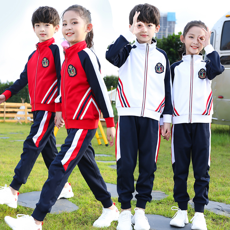 春秋加大版中小学生校服儿童棒球服运动会套装英伦风幼儿园园服
