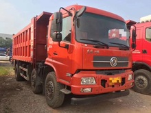 Dongfeng Tianjinguo May 518 Four-second-hand flat dump truck dump truck dump truck engineering dregs and dirt truck