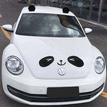 Modified car roof decoration with panda Mickey ear doll cute car decoration with Beetle car exterior decoration sticker