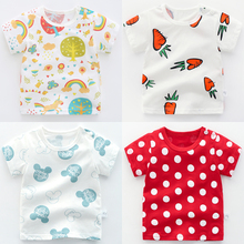 Girl Baby Half-sleeve 1-year-old 3-year-old Summer Clothes Short-sleeved Cotton T-shirt Girl Summer Baby Clothes Children 0 Boys 2