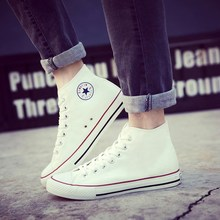 Men's shoes in the fall of 2019 white canvas shoes male