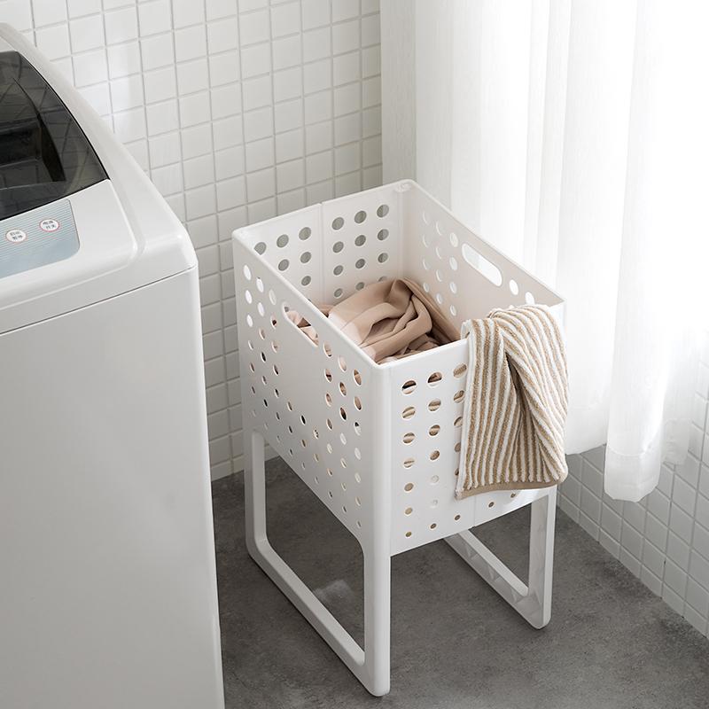 日本臟衣服收納筐可折疊家用臟衣簍洗衣籃塑料裝衣服桶籃子收納筐