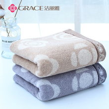 Two clean, elegant and thick towels, pure cotton, men and women wash their faces, cotton household, soft and absorbent adult couple