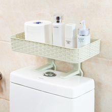 Home home from punching bathroom shelf hanging toilet supplies wall-hung toilet closestool receive plastic frame