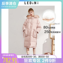 Leding Profile Fur-Collar Duck Down Dress Style 18 Winter Dress New Women's Dress Medium and Long Knee Japanese Clothes