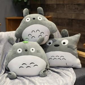 可爱三合一暖手抱枕被子两用靠垫多功能龙猫抱枕公仔娃娃毛绒玩具