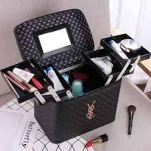 Portable Cosmetic Bag 2018 New Simple Multifunctional Female Hand-held Receiving Box Large Capacity Box Multilayer Net Red
