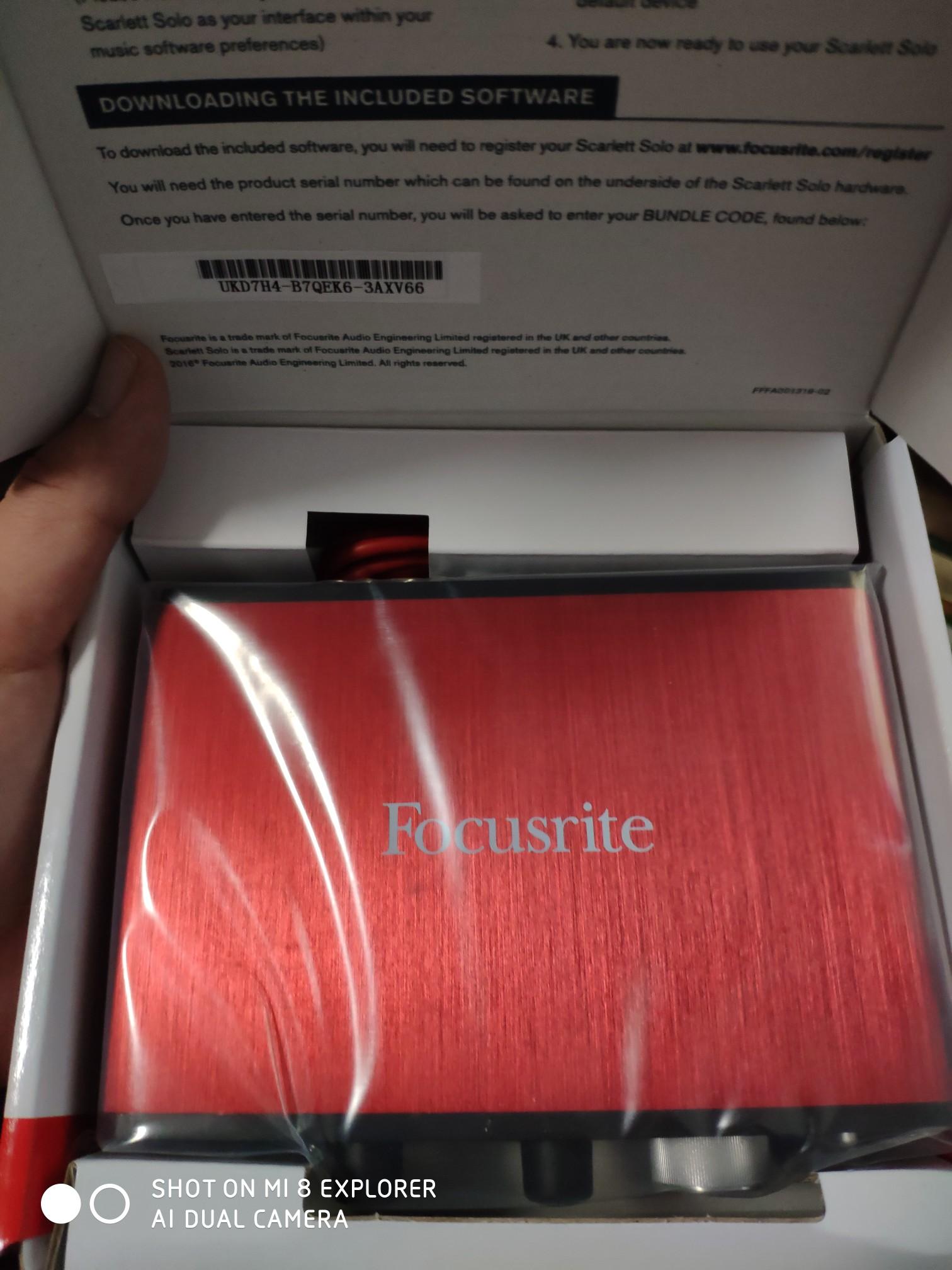 福克斯特Focusrite Scarlett Solo 外置USB专业录音编曲配音声卡