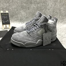 Cheap Air Jordan IV 4 Kaws X Cool Grey White 930155-003