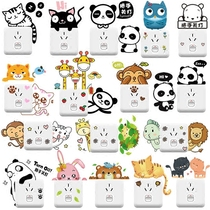 Removable switch stickers living room bedroom self-adhesive nursery dormitory creative animal lights wall stickers stickers decoration