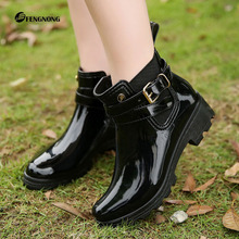 New fashionable short-barrel rainshoes in summer women's short-barrel water shoes lovely skid-proof water boots women's rubber overshoes and rainboots women