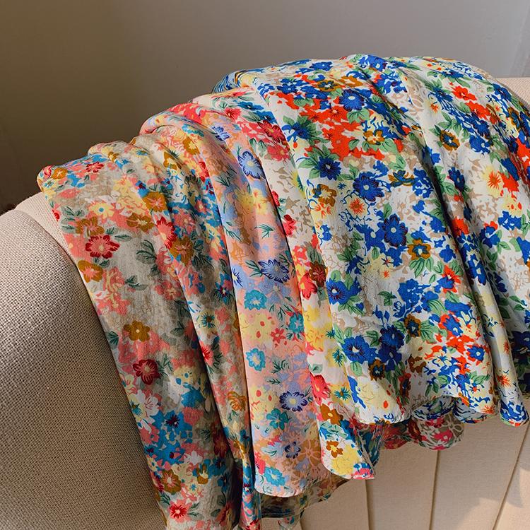 【无假期的人】淡淡的幽香清新甜美小雏菊半身裙女夏绵绸短裙