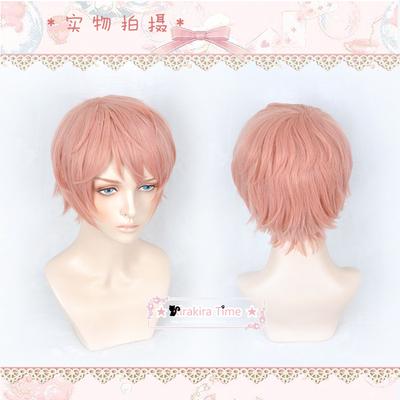 taobao agent 【KR】Cosplay Wig Idol Dream Festival Zaimiyazong Warm Pink Teenager Short Hair Style