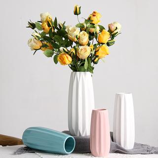 简约现代陶瓷花瓶摆件景德镇客厅北欧创意家居装饰小号水培插花器