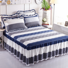 Cotton-Clamped Bed Skirt Bedspread Single Cotton Thickened Dust-proof Bedspread Slip Protection 1.8m Bedspread 100%