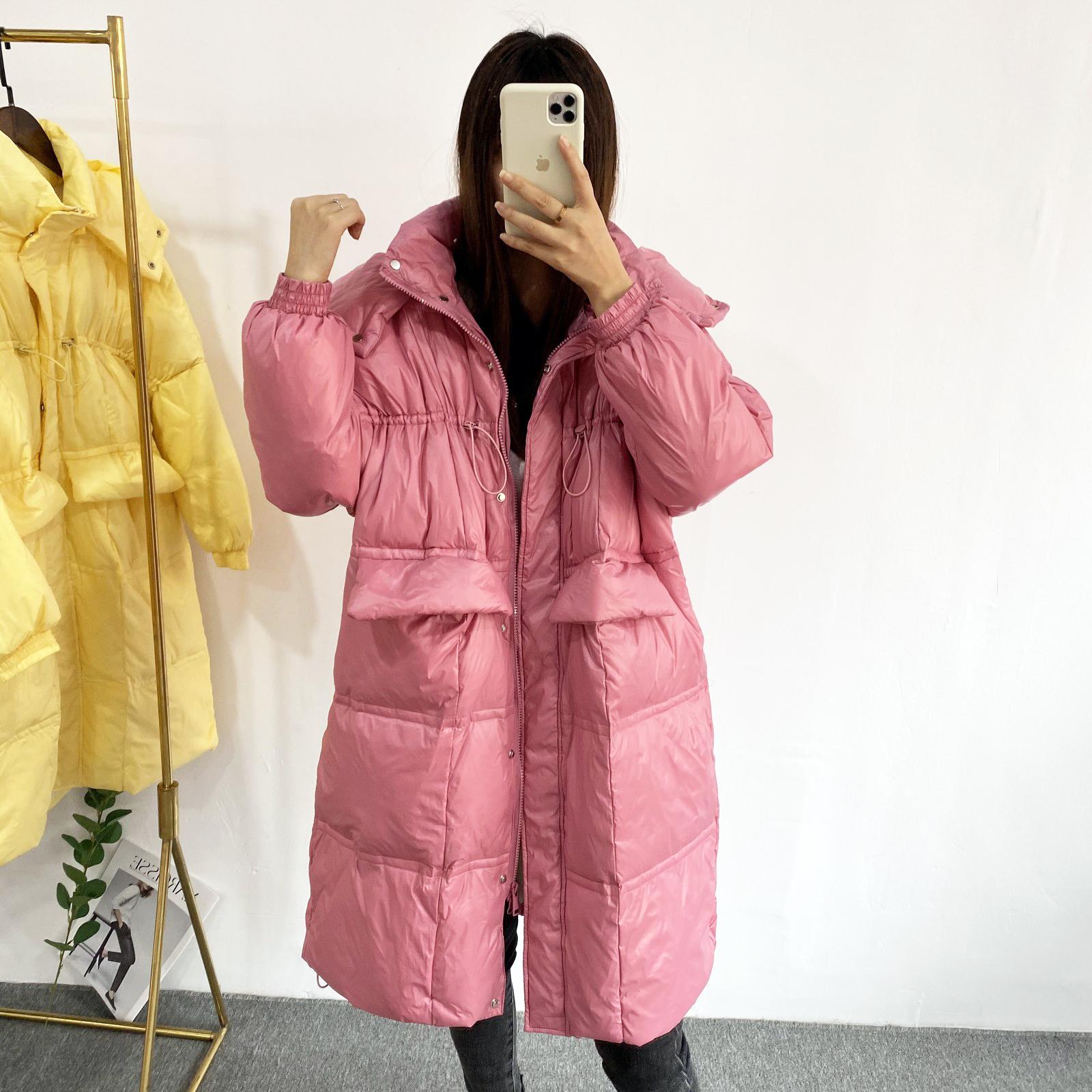东大门反季特卖雪梨同款羽绒服女中长款面包服宽松显瘦时尚外套潮