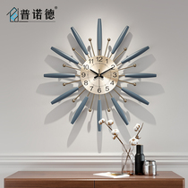 Clock wall clock living room modern home art mute clock simple atmosphere personality creative fashion Nordic clock