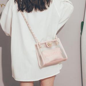 高级感洋气女包2020新款夏天时尚斜挎包女百搭ins单肩透明果冻包
