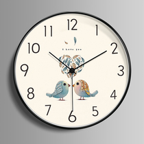 Nordic wall clock living room personality creative fashion modern minimalist clock bedroom mute home European luxury watches