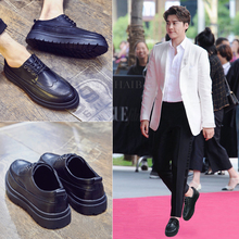 Men's shoes Korean version of Block Men's shoes British heightened thick-soled youth suit casual men's shoes breathable in summer
