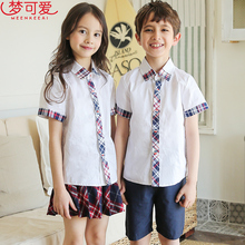 Dream lovely English kindergarten uniform summer uniform for primary and secondary school students graduation uniform for teachers and children's class uniform customization