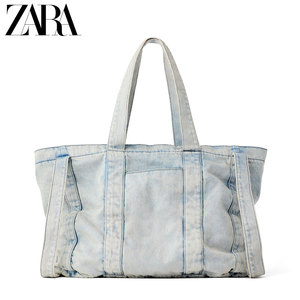 7ccecfc226 ZARA's new TRF women's bag spring 2019 jeans carry shopping bag 13334004017