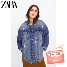 ZARA's new women's wear with holes and loose jean jacket 04979026427