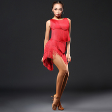The Latin Dance Dress Female Adults'Gonggong Dress Liusu Dress Performing Dress Sexy Leakage Back A323