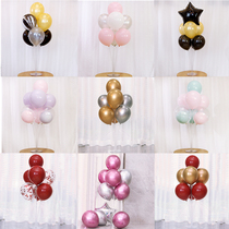 Birthday party layout macaron Balloon metal balloon table floating childrens Baby birthday party table decorations