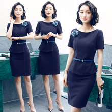 Summer Professional Suit Goddess of Temperament Fan Fashion Commuter Dresses New Beautician Workwear OL Suit