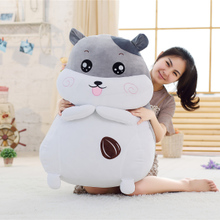 Lovely fat hamster doll doll accompany you sleeping pillow sleeper lazy super soft plush toy lovely super germ