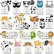 Cartoon cute childrens room bedroom lights off lights wall stickers stickers wall decoration Power Outlet Switch stickers