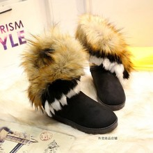 2018 winter female snow boots women warm shoes large snow boots cotton boots