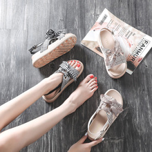Sandals Fairy Summer Wind 2019 New Fashion Baitao Student's Thick Bottom Net Red with Flat Bottom Roman Shoes