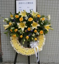 Hong Kong luxury wreath a flower who memorial fountain flower distribution