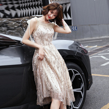 Small dress dress 2009 new summer peacetime can wear temperament V-neck party hostess dress ladies with suspenders