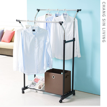 Double-pole floor hanger indoor lifting drying rack hanging hanger Chang Sin Living