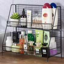 Nordic ins iron kitchen racks cosmetics storage rack desk double dormitory artifact desktop racks