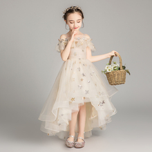 Children's dress Princess skirt Girl Pengpeng veil Girl Wedding dress Moderator piano dress