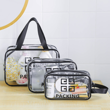 Transparent cosmetic bag, water-proof toiletries for women, large-capacity men's portable traveling bag, bathing bag