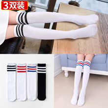 Children's socks girls'stockings over knees Summer thin cotton baby half-height boys' soccer stockings