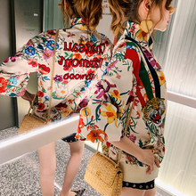 Avoiva Earth Shop Two-sided Piercing Embroidered Baseball Suit Female Spring and Autumn 2019 New Thin Satin Heavy Industry Coat